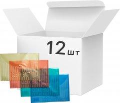 Набор папок 4Office на кнопке 12 шт А4 120 мкм Прозрачное ассорти (4-206/4820071010205)