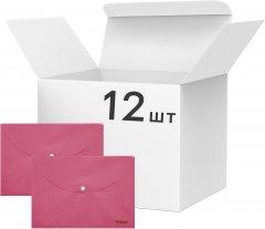 Набор папок Norma Pastel на кнопке 12 шт А4 160 мкм Розовый (5102-01/8591662510218)