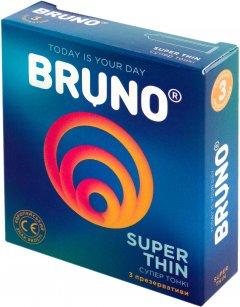 Презервативы Bruno Super Thin 1 упаковка 3 шт (4820234160099)