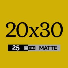 Електронний подарунковий сертифікат на друк 25 матових фото 20х30 см Ra