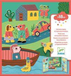 Набор для творчества Djeco с наклейками Животные (DJ09071) (3070900090712)