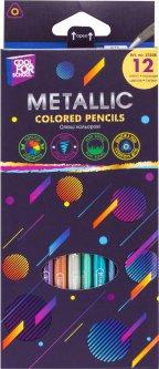 Цветные карандаши Cool for school Metallic трехгранные 12 цветов (CF15168)