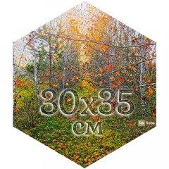 Друк на шестикутному бавовняному полотні 30х35 см Ra