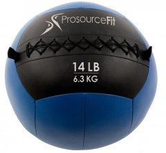 Мяч набивной для кроссфита ProSource Wall Ball Soft Medicine Ball - 6.3 кг Cиний (ps-2212-mwb-14lb)