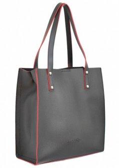 Женская сумка стильная фабричная брендовая Lucherino 532 черная высокого качества (LCH)