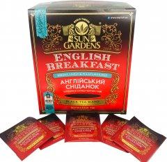 Чай черный пакетированный Sun Gardens English Breakfast 100 пакетиков х 2 г (4820082708085)
