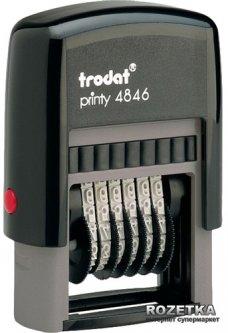 Нумератор Trodat 4846 4 мм 6 символов Черный корпус (4846)