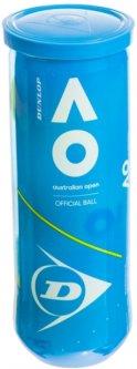 Мячи для большого тенниса Dunlop Australian Open 3 шт Желтые (601354)