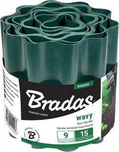 Садовый бордюр Bradas 9 м х 25 см Зеленый (OBFG 0925)
