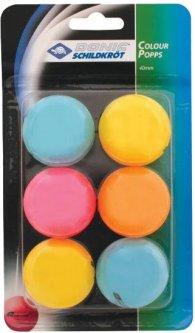 Мячи для настольного тенниса Donic Color popps 6 шт (649015)