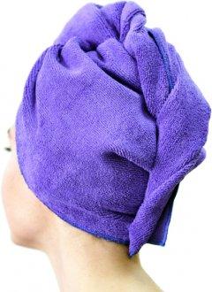 Шапка-тюрбан Mindo для сушки волос фиолетовая (md9092) (2500000008306)