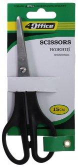 Упаковка ножниц офисных 4Office Универсальные 15 см 12 шт (14820071014194)
