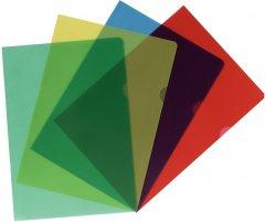 Папки-уголки Herlitz А4 115 мкм тисненые Цветные 20 шт (11420254)