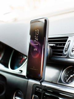 Беспроводное автомобильное зарядное устройство DERZHAK V1 Black (QT-DerzhakV1)