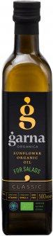 Масло подсолнечное Garna Organica нерафинированное невымороженное прессовое органическое первого сорта 500 мл (4820044491352)