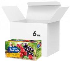 Упаковка ягодного чая Grandma's Tea клюква и смородина 6 пачек по 20 шт (5900396013361)