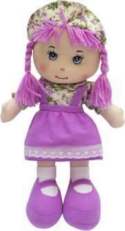 Кукла Devilon мягконабивная с вышитым лицом 36 см Сиреневая (5102681860852)