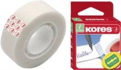 Клейкая канцелярская лента Kores Invisible 12 мм x 33 м Прозрачная матовая 16 шт (K53302)