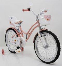 Велосипед для дівчаток BEEHIVE 20 рожевий з кошиком
