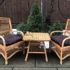 Комплект садових меблів Стіл і Два Крісла з лози Лоза Карпат - плетені терасна вулична елітна Садові Меблі з лози для Саду, дачі альтанки вулиці