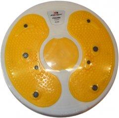Напольный диск Joerex для фитнеса Желтый (4566Y)