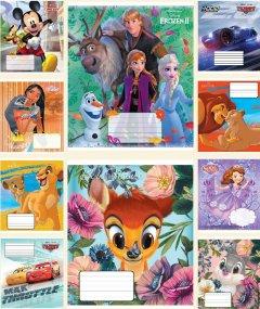 Набор тетрадей ученических 25 шт Тетрада Disney А5 в клетку 12 листов (10 дизайнов) (12511)