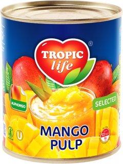 Манго пюре Tropic Life сорт Альфонсо 850 мл (5055448003194)