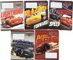 Набор тетрадей ученических 25 шт Тетрада Disney Cars. Holiday в линию 12 листов (5 дизайнов) (11925)