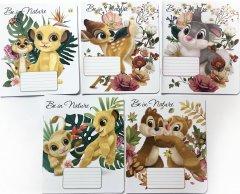 Набор тетрадей ученических 25 шт Тетрада Disney Герои Диснея-2 в линию 12 листов (5 дизайнов) (11984)