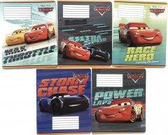 Набор тетрадей ученических 25 шт Тетрада Disney Cars. Best в линию 12 листов (5 дизайнов) (12057)