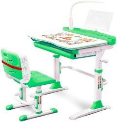 Комплект мебели Evo-kids Evo-19 (стул+стол+полка+лампа) Белый-зеленый (Evo-19 Z)