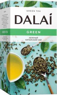 Чай зеленый пакетированный Dalai Green 25 шт х 1.8 г (4820198873288)
