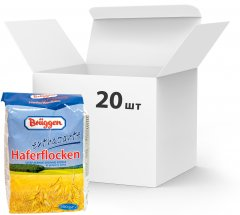 Упаковка овсяных хлопьев Bruggen Extrazarte Haferflocken 500 г х 20 шт (4008713710373)