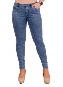 Стрейчеві джинси жіночі зі стразами Ластівка А1046-6-A. 32 Розмір 50-52