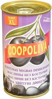 Маслины Coopoliva без косточек Черные 370 мл (8410522000907)