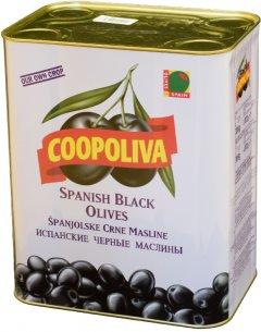 Маслины Coopoliva без косточек Черные 8 л (8410522003038)