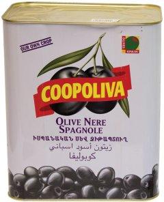 Маслины Coopoliva с косточками Черные 8 л (8410522000686)