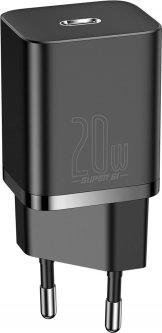 Сетевое зарядное устройство Baseus Super Silicone PD Charger 20W (1Type-C) Black (CCSUP-B01)