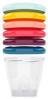 Набор контейнеров для еды Babybols Babymoov разноцветные 6х180 мл (A004308) (3661276147355)