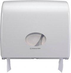 Диспенсер для туалетной бумаги KIMBERLY CLARK PROFESSIONAL Aquarius на большой и малый рулоны (6991) белый