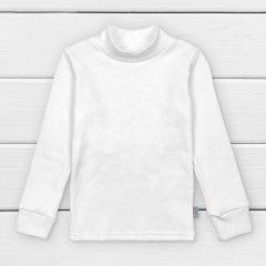 водолазка мальчукова з фактурної тканини lines 122 см білий
