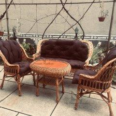 """Комплект садових меблів стіл """"Гриб"""" два крісла з диваном лози Лоза Карпат, - садові меблі вулична з лози для саду для дачі альтанки вулиці стіл + крісла, терасна елітна садова плетені меблі для дачі"""