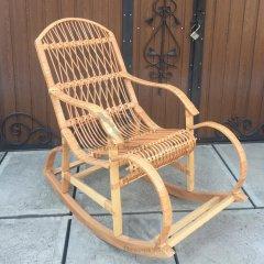 """Садове крісло качалка """"Д3"""" з лози Лоза Карпат - садові меблі вулична з лози для саду для дачі альтанки вулиці - терасна елітна садова плетені меблі для дачі"""