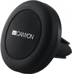 Автодержатель для телефона магнитный CANYON Black (CNE-CCHM2)