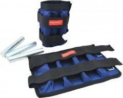 Утяжелительные манжеты Onhillsport 2 кг (под грузы 2х2 кг, 500 г - 8 шт) комплект Синие (МТ-0251)