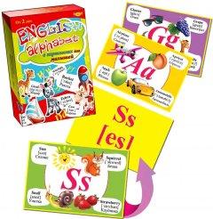 Настольная игра Майстер English Alphabet в рисунках для детей (МКА0003)