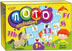 Настольная игра Майстер Лото Alphabet. Изучаем английский (МКМ0327)