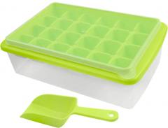 Форма для льда Kitchenio с контейнером и лопаткой Салатовая (2000992406338)