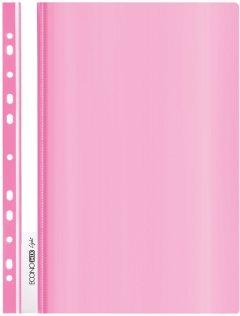 Папка-скоросшиватель Economix А4 Light с перфорацией 10 шт Розовая (E38504-09)