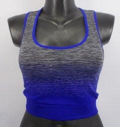 Топ для фітнесу Open Air 3014 44-52 сірий з синім